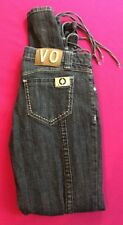 VO Virgin Only Womens Skinny Jean Size 9 Lace Up Leg Dark Wash