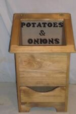 potatoe and onion bin regular style now with  plexaglass see threw lid