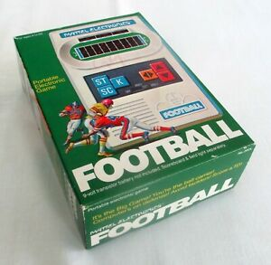 VINTAGE 1977 MATTEL ELECTRONICS FOOTBALL GAME + BOX + INSTRUCTIONS + WORKS