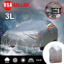 Full Car Cover Breathable PEVA Waterproof Rain Heat Dust Resist Protection 3L