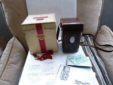 Superb Rolleiflex T Grey Original Leather Case and Box. Carl Zeiss Tessar lens.