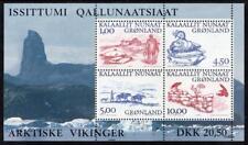 GREENLAND MNH 2001 SG394 Greenland Vikings (3rd series) Minisheet