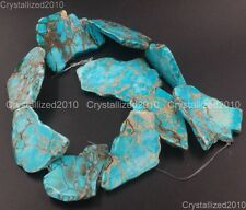 Natural Sea Sediment Jasper Gemstone 25~40mm Freeformed Nugget Sliced Beads 16''