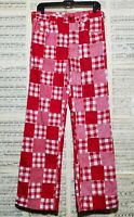 Vintage 1970s Chaps Division of Polo Ralph Lauren Red Checkered Patchwork Pants