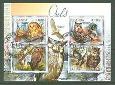 MTC1682 Uganda 2012 used s/s Birds Owls