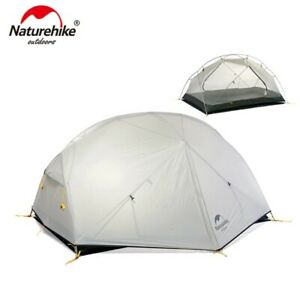 Mongar 2 Persons Camping Tent 20D Nylon Fabic Double Layer Waterproof Tent