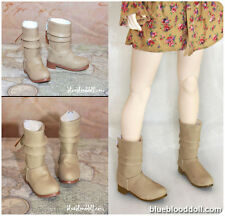 1/4 bjd msd girl doll beige color short boots shoes dollfie luts S-67M ship US