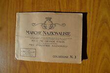 SERIE FRANCOBOLLI MARCHE NAZIONALISTE COLLEZIONE MARUCELLI N. 3 INDUSTRIE NAZION