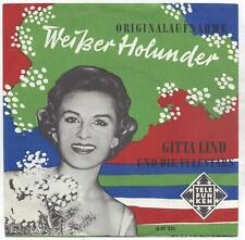 Gitta Lind und die Telestars : Weisser Holunder - Vinyl single 1950er Jahre