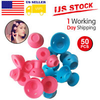 Magic Silicone Hair Curlers Rollers No Clip Formers Styling Curling DIY Tool US