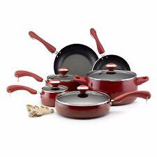 Food Network Cookware Paula Deen Pots And Pans Set The Best Nonstick Red Speckle