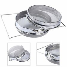 YaeKoo Stainless Steel Beekeeping Double Honey Sieve Strainer Filter Equipment
