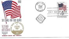 1960 Golden Jubilee Cachet 50 Stars for Old Glory Troop 86 Anacortes Washington