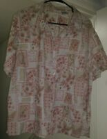 White Stag Womens Multi Color Floral Button Down Shirt Top Blouse Size 22W 24W
