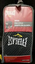 Everlast Pro Style MMA Grappling Gloves Large/Xtra Large Black - NEW