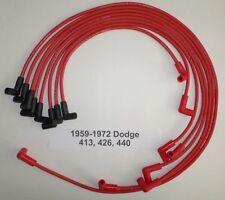 Big Block DODGE 383-400-413-426-440 1959-72 RED HEI 8mm Hi-Perf Spark Plug Wires