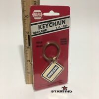 Napa Balkamp MAZDA Keychain VINTAGE Brass Enamel Metal Key Chain Ring Rare SEE