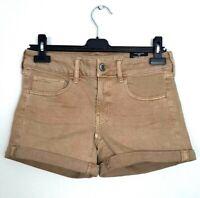 American Eagle Womens Size 6 Tan Brown Midi Shorts Stretch Cuffed