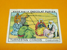 CHROMO CHINE TURKESTAN CHINOIS COSTUMES CIVILS CHOCOLAT PUPIER ASIE 1936 中国
