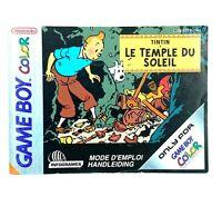 Notice jeu Nintendo Game Boy Color Tintin lnstruction Booklet Manuel FAH