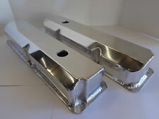 Ford FE Fabricated Polished Aluminum Tall Valve Covers BBF 332 352 390 427 428
