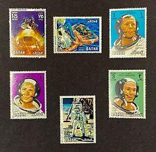 Qatar 190 First Man Moon Landing Space Apollo Walk Set Astronaut SplashDown Raft