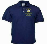 USS SHREVEPORT  LPD-12  NAVY ANCHOR EMBROIDERED LIGHT WEIGHT POLO SHIRT