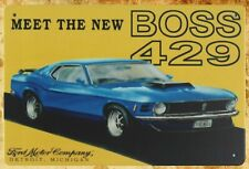 US Seller- Meet New Boss 429 Ford Mustang retro car metal sign picture plaques