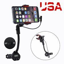360° USB Car Cigarette Lighter Mobile Phone Charger Mount Holder Universal BT