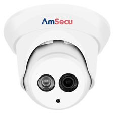 AmSecu 4K 8MP 2.8mm lens Turret PoE IP Network Security Camera Onvif Compatible