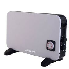 Heller 2000W Electric Panel Convection Heater/Timer/2 Heating Portable/White