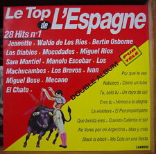 LE TOP DE L'ESPAGNE  28 HITS N°1 DOUBLE FRENCH LP CARRERE 1990