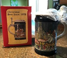 Marzi & Remy First Annual Christmas Beer Stein 1978