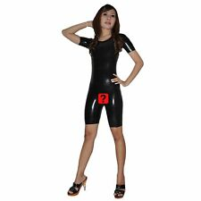 Brand New Latex Rubber Short Sleeved Open Crotch Catsuit Body (one Size)