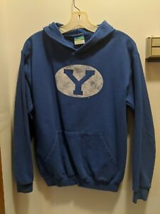 Brigham young university Youth Large Blue Hooded Sweatshirt