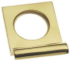 Solid Polished Brass Square Top Victorian Yale Lock Surround / Door Pull (PB237)