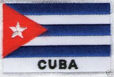 écusson ECUSSON BRODE PATCHE PATCH THERMOCOLLANT DRAPEAU CUBA DIMENSION 7 X 5 CM