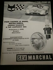 1972 - MARCHAL LE MANS   AD - PUBLICITE  BOUGIES - ANUNCIO BUJIAS- FRENCH - 3172