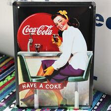 Retro Coca Cola Have a Coke Pin up Girl Metal Tin Sign Soda Beverages Ad 20x15cm