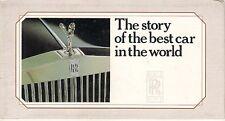 Rolls-Royce Bentley 1903-1985 Corporate History Foldout Brochure Ghost Cloud
