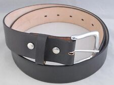 SOLID One PIece Real LEATHER BELT REMOVABLE BUCKLE New