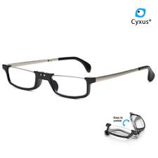 Cyxus Foldable Blue Light Blocking Reading Glasses UV Protection Black Eyewear