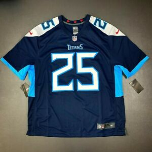 100% Authentic Adoree' Jackson Nike Titans On Field Game Jersey Size 2XL 52 Mens