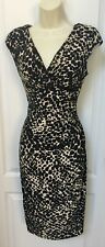 American Living Size 4 Small Black Beige Sleeveless Classy Sheath Career Dress