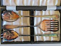 Vintage Raimond Sheffield England Silver Plated Serving Set 3 Pieces New In Box