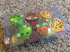 New*Shopkins Shower Curtain/Rings Kids/Childrens Bathroom Set*Cookie*Apple*12pc.