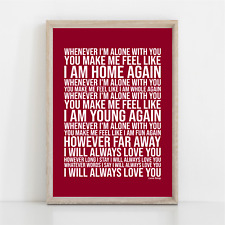 More details for cure love song song lyrics poster print wall art