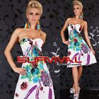 New Size 8-10 Womens Ladies Party Club Evening Cocktail Strapless Summer Dress