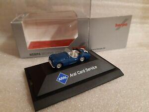 herpa Triumph TR3  britischer Roadster Oldtimer / Aral Card Services Exclusiv PC