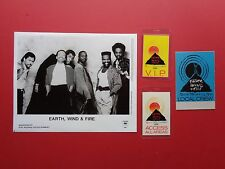 EARTH WIND and FIRE,promo photo,3 different  Backstage passes,,RARE Originals